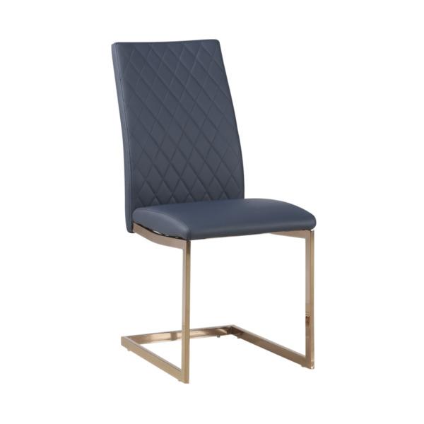 Трапезен стол К284/цвят мастило/злато