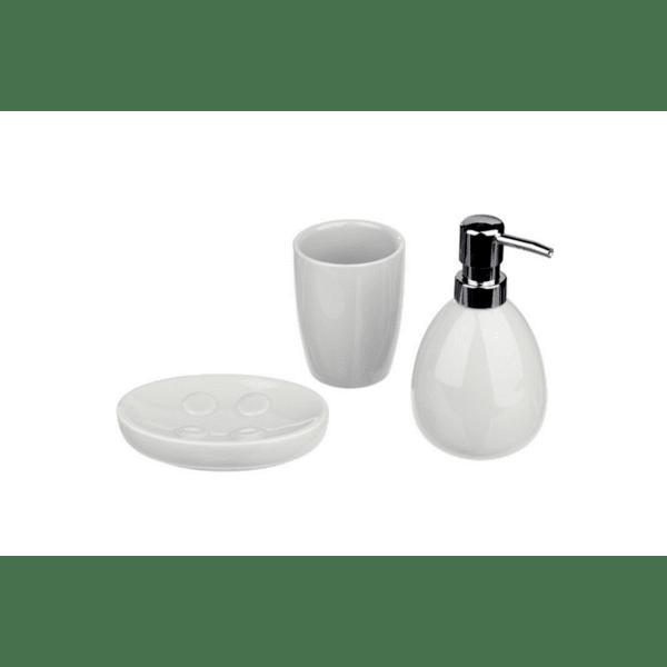 Комплект аксесоари за баня Igor  3бр керамично бял