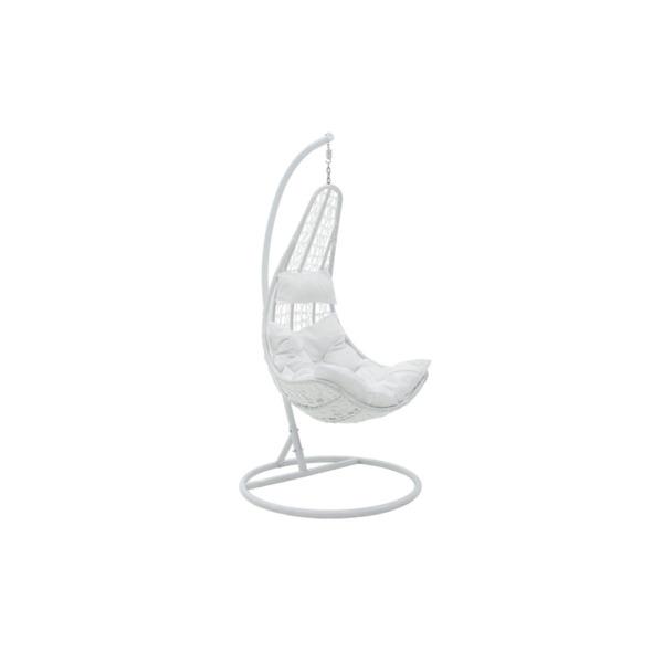 Soleil  градинска люлка висяща метална-възглавница бяла