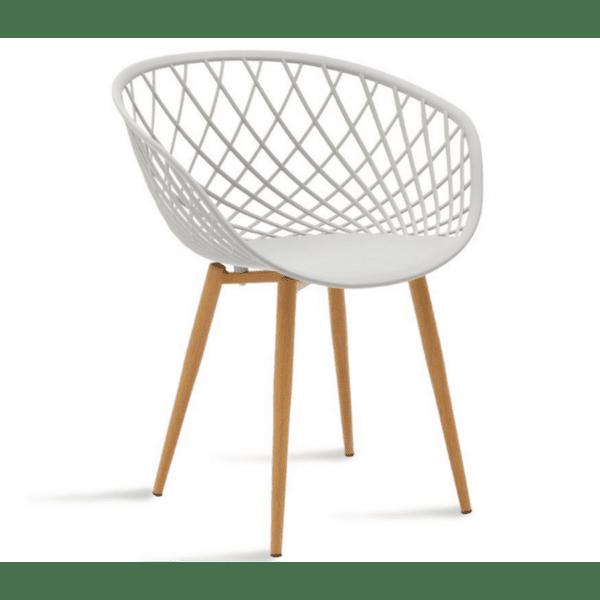 Стол Ezra цвят сив полипропилен