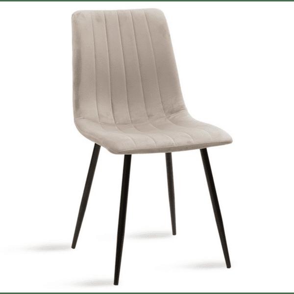 Трапезен стол Noor сиво кадифе