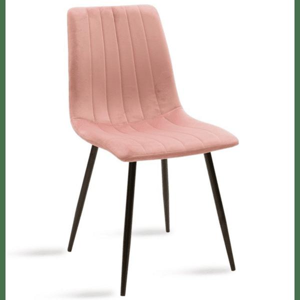 Трапезен стол Noor розово кадифе