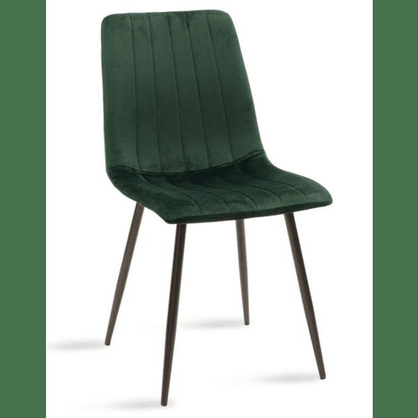 Трапезен стол Noor зелено кадифе