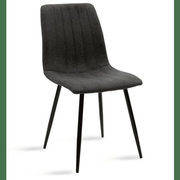 Трапезен стол Noor антрацитен цвят