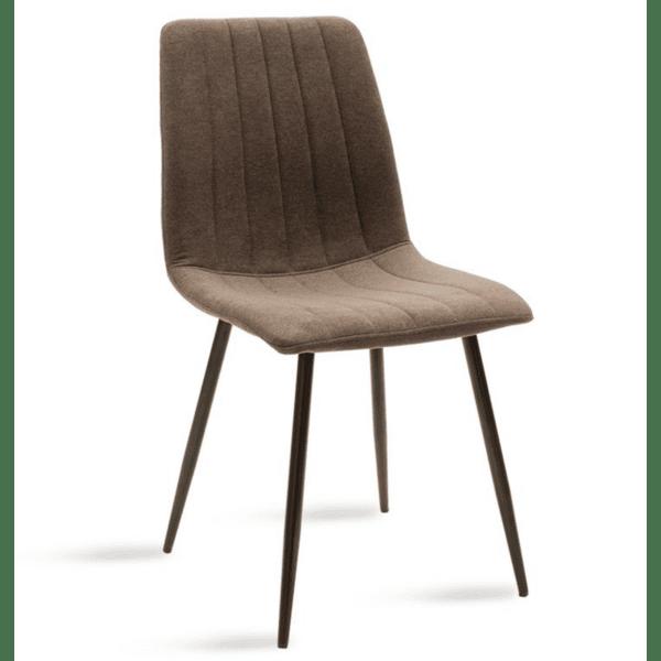 Трапезен стол Noor кафяв цвят