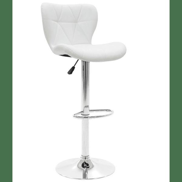 Бар стол Cozi цвят бял