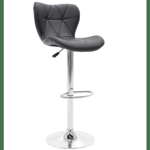 Бар стол Cozi хром цвят черен