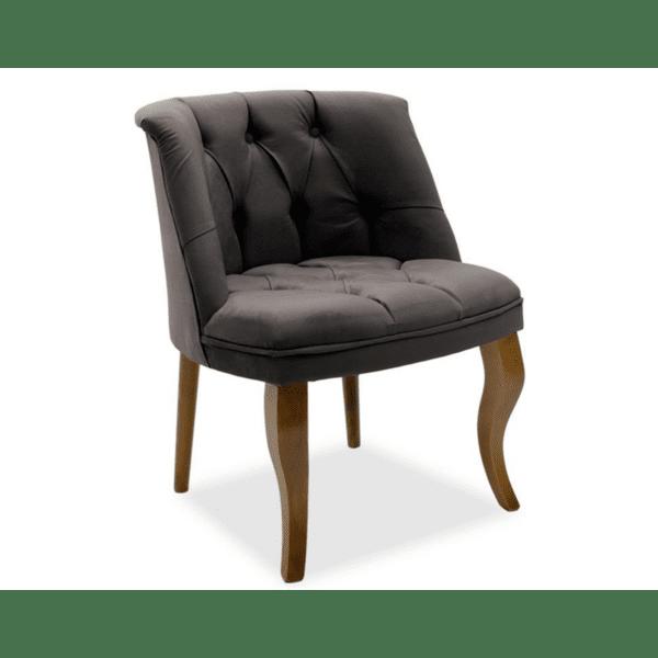 Кресло Лорета сиво кадифе