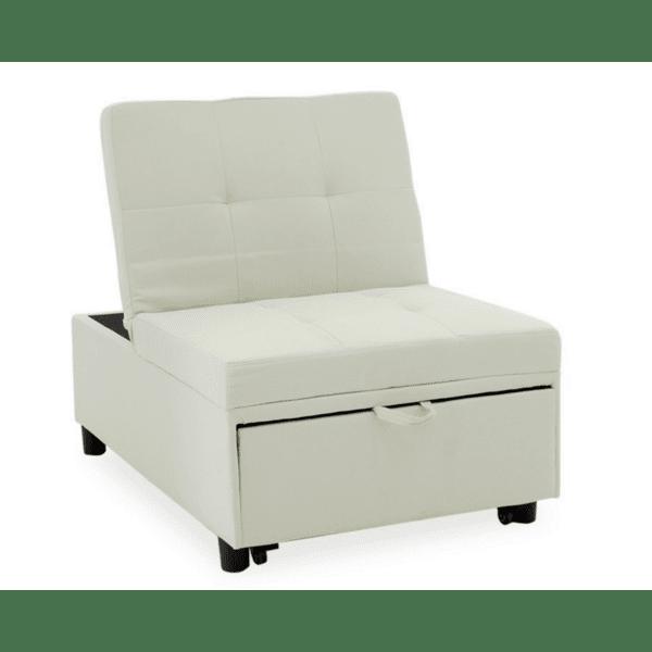 Фотьойл-легло Loco бял цвят