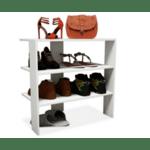 Поставка за обувки Efes 8 чифта цвят бял 57x31x55см