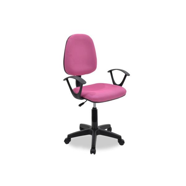 Работен стол Maria с плат от розова мрежа