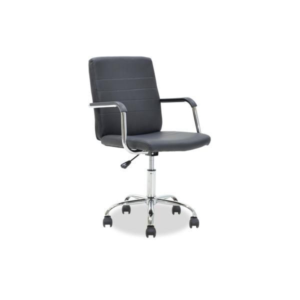 DOGGY  офис стол от синтетична кожа черен