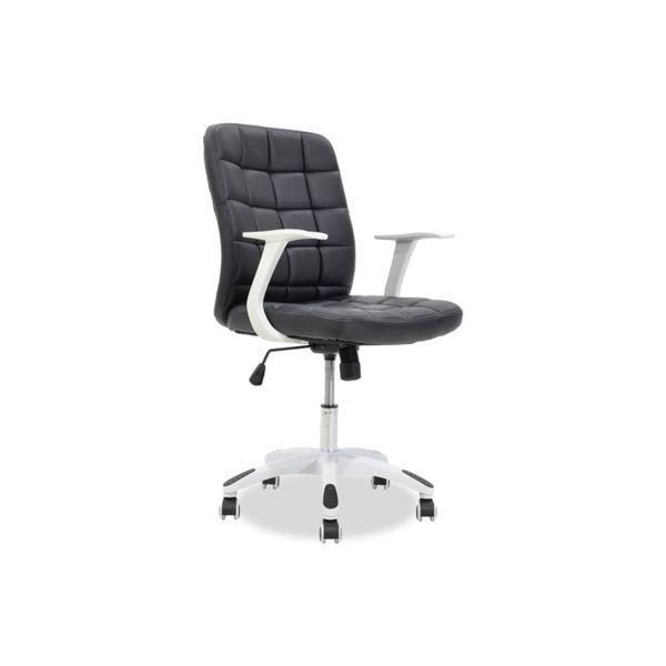 ARIEL  офис стол от синтетична кожа черно-бял