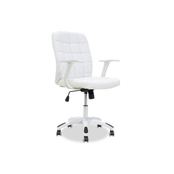 ARIEL  офис стол от синтетична кожа бял