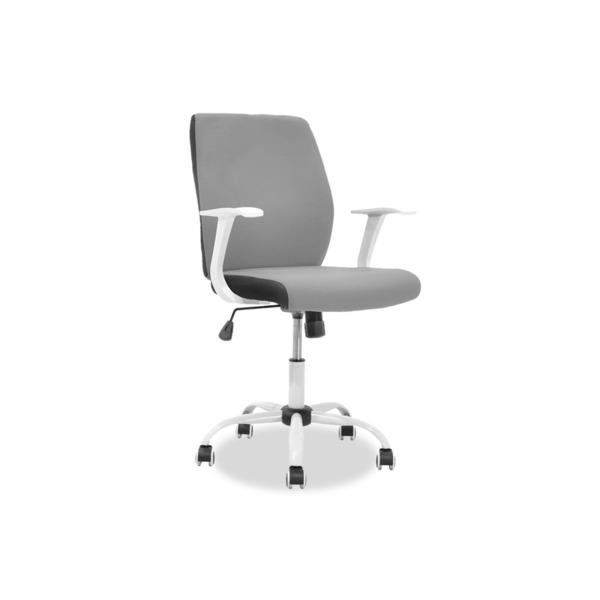 Стол за работно бюро Memory сиво-бял плат