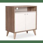 Многофункционален шкаф Лондон цвят бял-лате