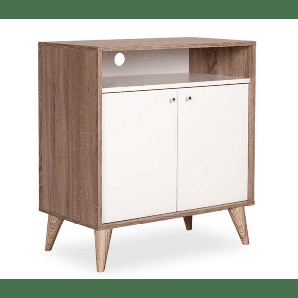 Многофункционален шкаф Лондон цвят бял-лате  72x40x79cm