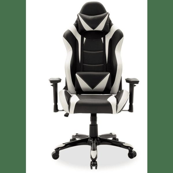 Офис стол Russell-Gaming SUPREME черно-бял