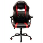 Офис стол  Schumacher черен-червен цвят