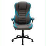 Геймърски стол Стайл-сиво-светло син цвят