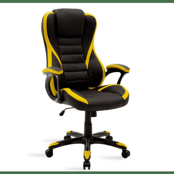 Геймърски стол Стайл- черно-жълт цвят