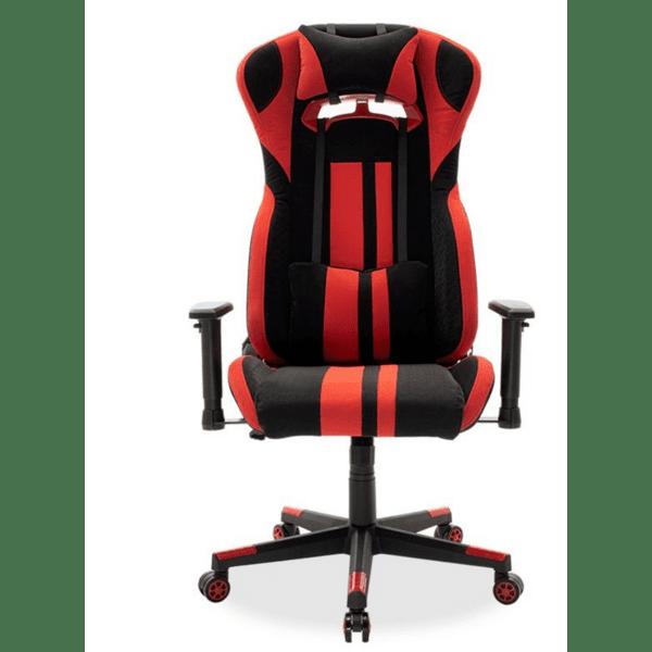 Офис стол Bottas-Gaming черен-червен цвят