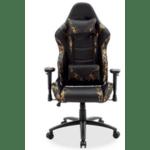 Геймърски офис стол Russel-Gaming военно-черен цвят