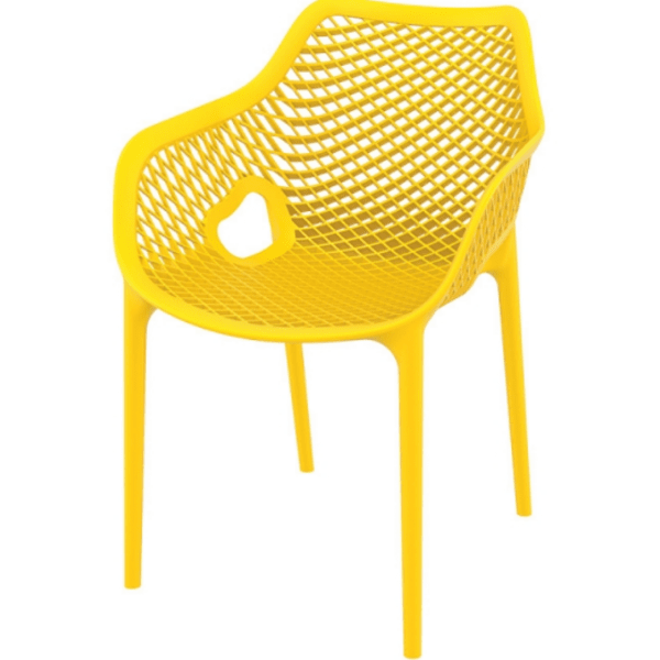 Стол Еър XL жълт полипропилен