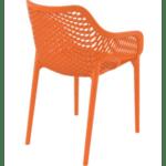 Стол Еър XL оранжев полипропилен
