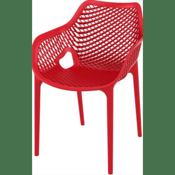 Стол Еър XL червен полипропилен