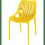 Стол Еър жълт полипропилен