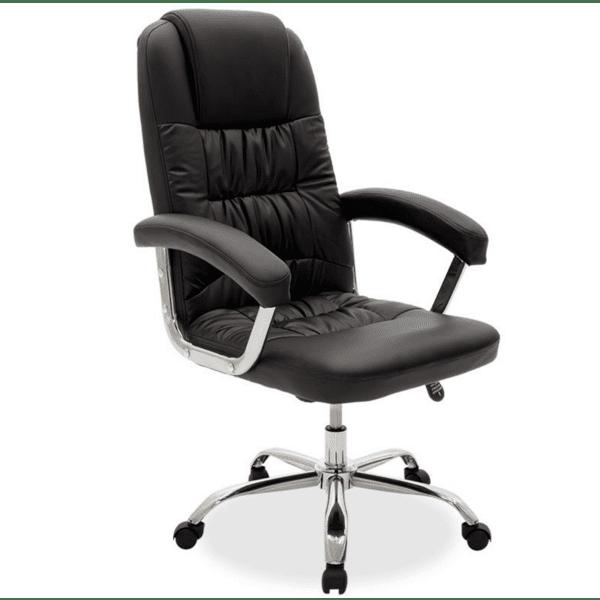Офис стол Viggo черна кожа