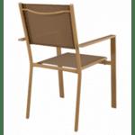 Метален стол Кросел капучино -мока