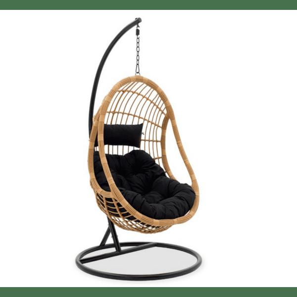 Градинска люлка Lacie черен-естествен цвят