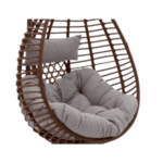 Градинска люлка Kade кафяв цвят сиви възглавници