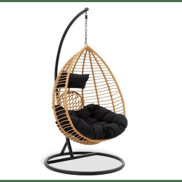 Градинска люлка Kadi черен-естествен цвят