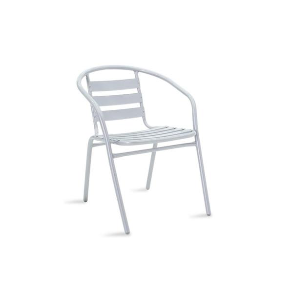 Градински стол Tade сив метал