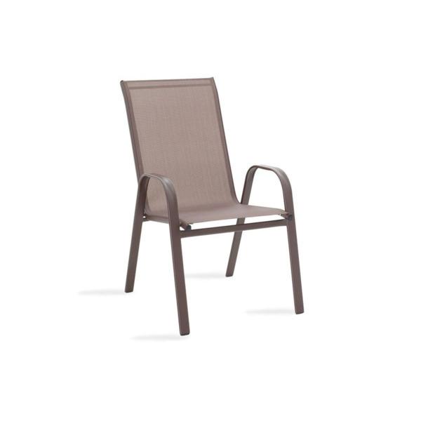 Градински стол   Calan метал/текстил-кафяв