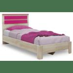 Детско легло Looney розов цвят 100х200см