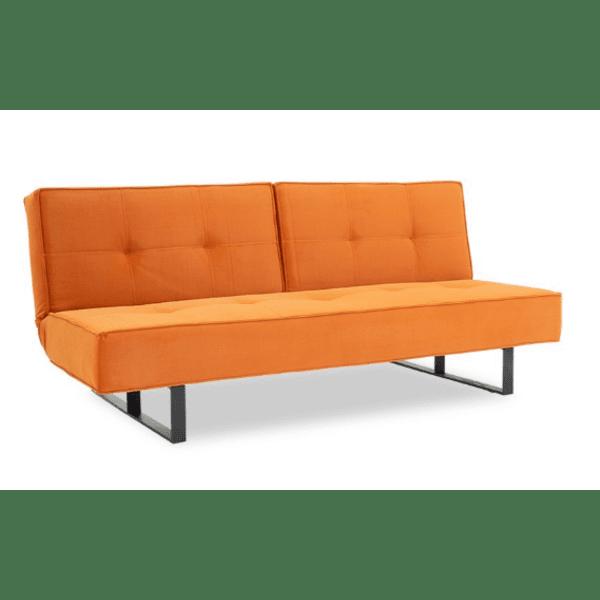 Разтегателен диван 3-местен Fella оранжев цвят 192x89x77см