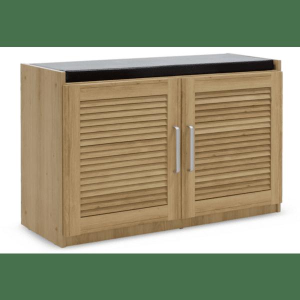 Шкаф за обувки+табуретка Crispy цвят сонома с възглавница 94x34,5x60cm
