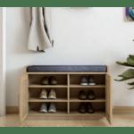 Шкаф за обувки+табуретка Crispy