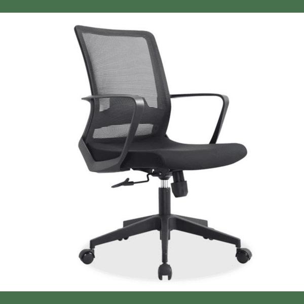 Офис стол Cage черен цвят