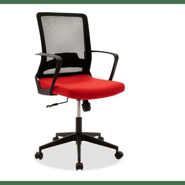 Офис стол Cage черен-червен цвят