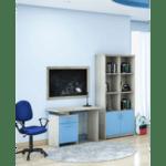 Детско бюро Looney цвят кастило-синьо 100x55x75см