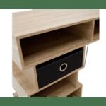 Шкаф Zoe цвят сонома-черен 90x45x73cm