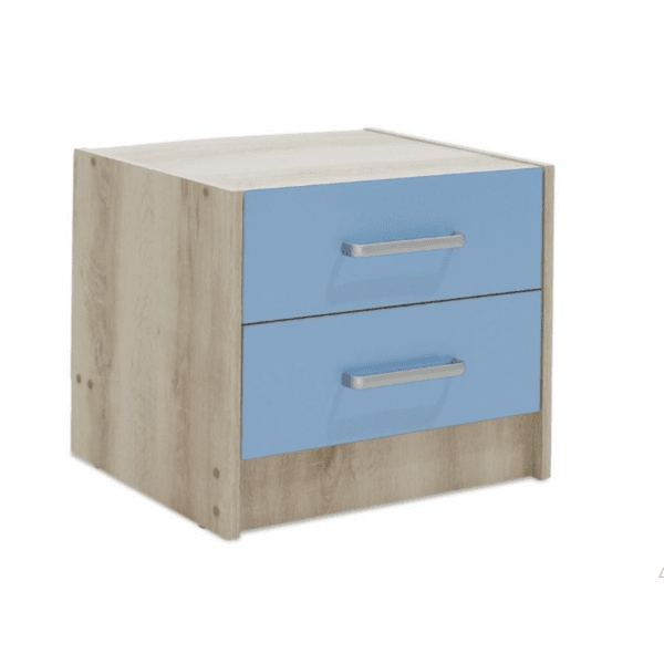 Детско нощно шкафче Looney син 47,5x40,5x40,5cm