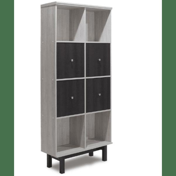 Шкаф-библиотека  Bonito венге-бял 80.5x30x179cm