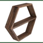 Стенен рафт Debo цвят орех 54x8.5x45cm