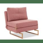 Легло фотьойл Edda розов цвят 77х93х86см